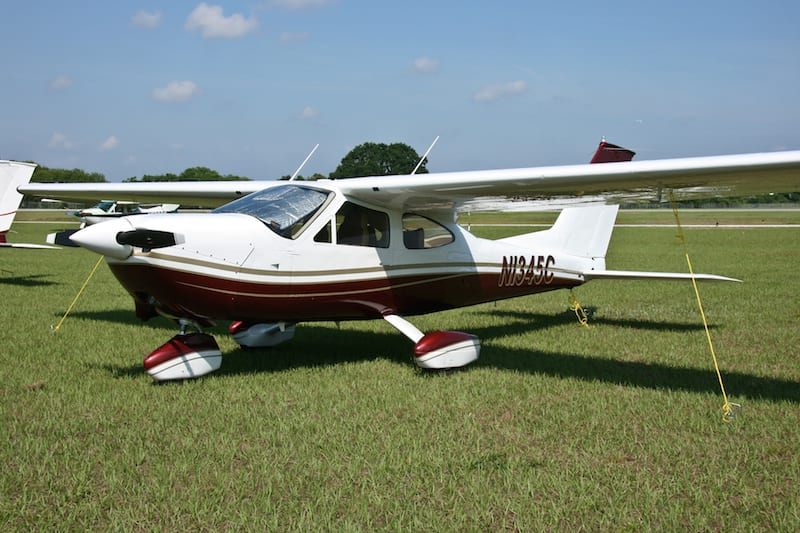 """This year's """"Nicest Cardinal"""" award winner, a 1978 177B Cardinal, owned by Woody Beck of Athens, Ga."""