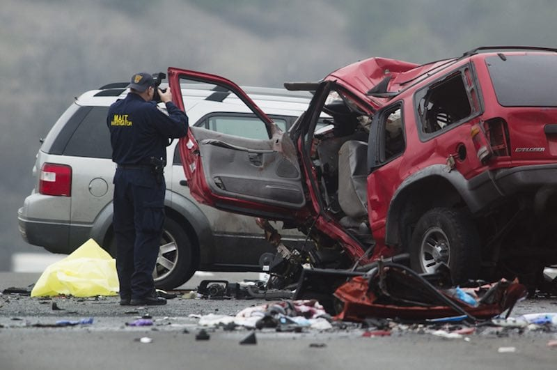 Suspect in wrong-way crash has previous DUI conviction, records show. Photo by LA Times.