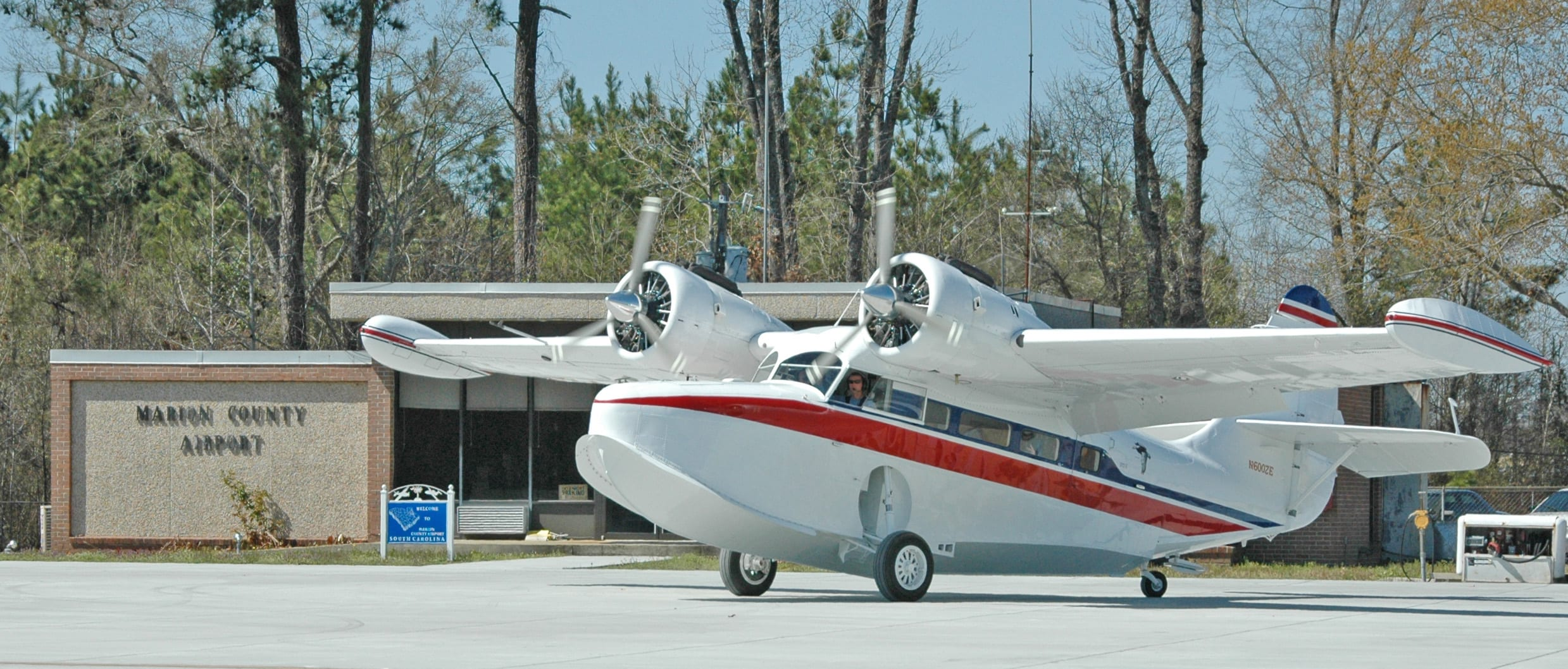 Among the more unusual aircraft to visit Marion, S.C. Regional was a Grumman Goose.