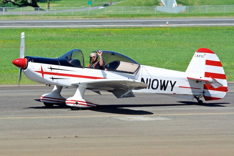 The Mudry CAP 10 is a two-seat training aerobatic aircraft first built in 1970 and still in production.