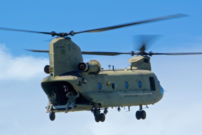 The Boeing CH-47 Chinook has been in service with the US Army since 1962.