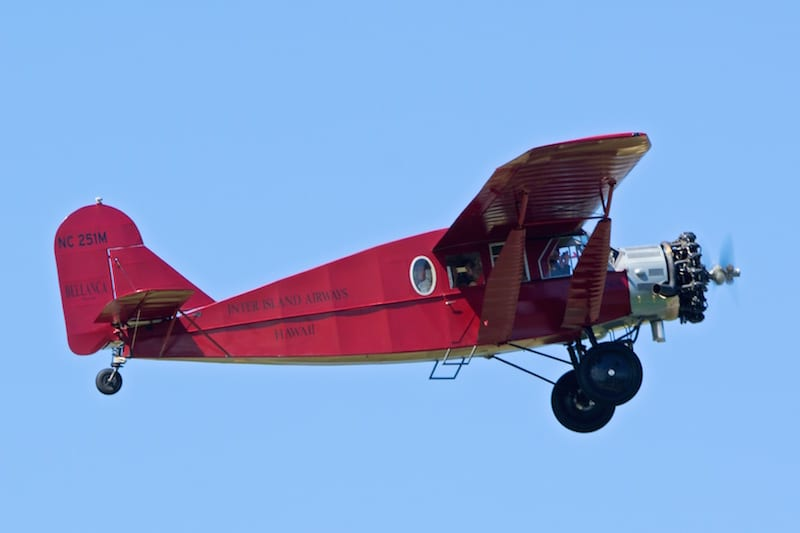 This 1929 Bellanca Pacemaker was originally procured by Inter-Island Airways, a predecessor to Hawaiian Airlines. Hawaiian Chief Executive Mark Dunkerley is one of seven pilots rated on this aircraft and takes employees and guests up for sightseeing trips.