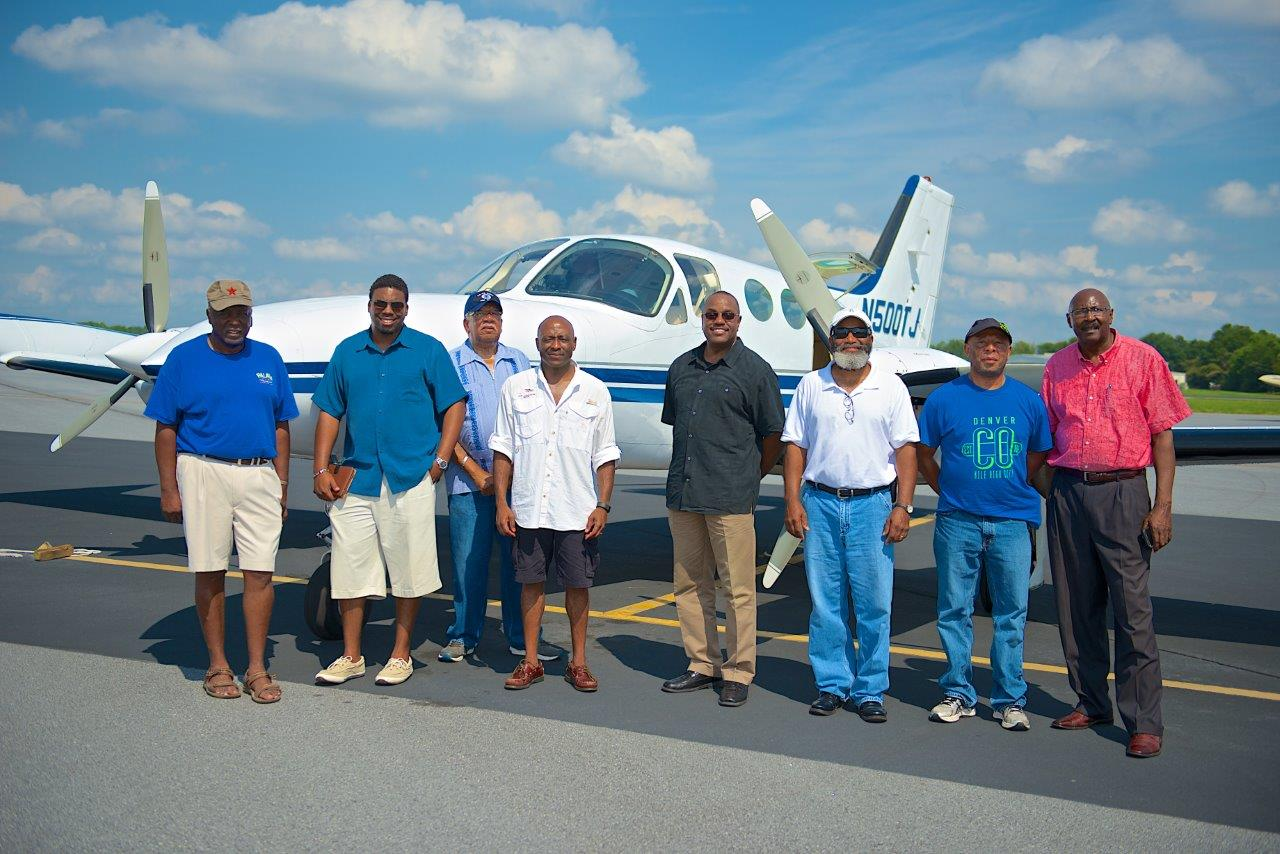 Pilots at the first meeting of the Southeast Aviators