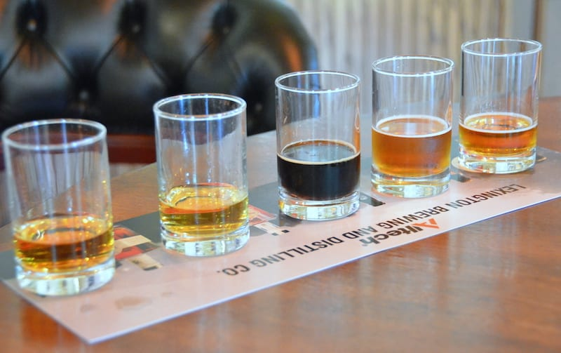 Alltech Bourbon Flight. (All photos in this gallery by Karin Leperi)