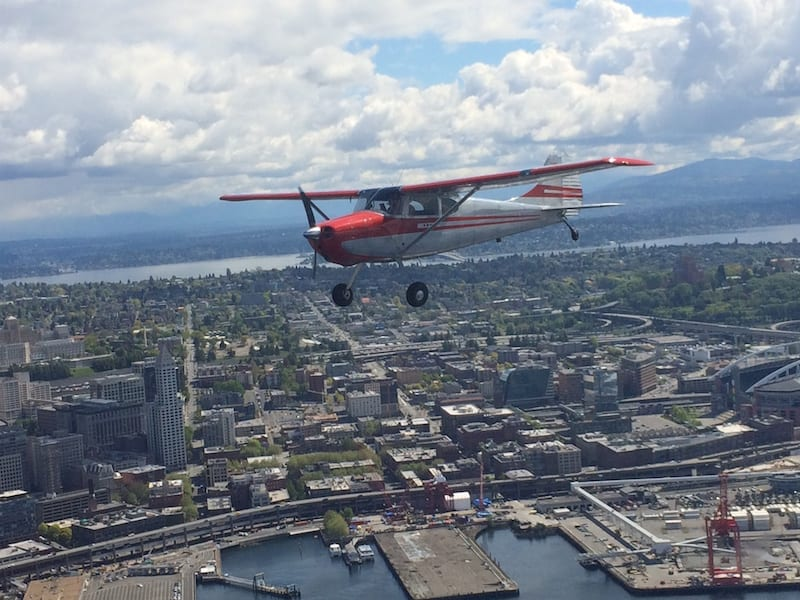 Cessna 170B over Elliott Bay WA Pictures of the day: Taking to the skies in a 170B
