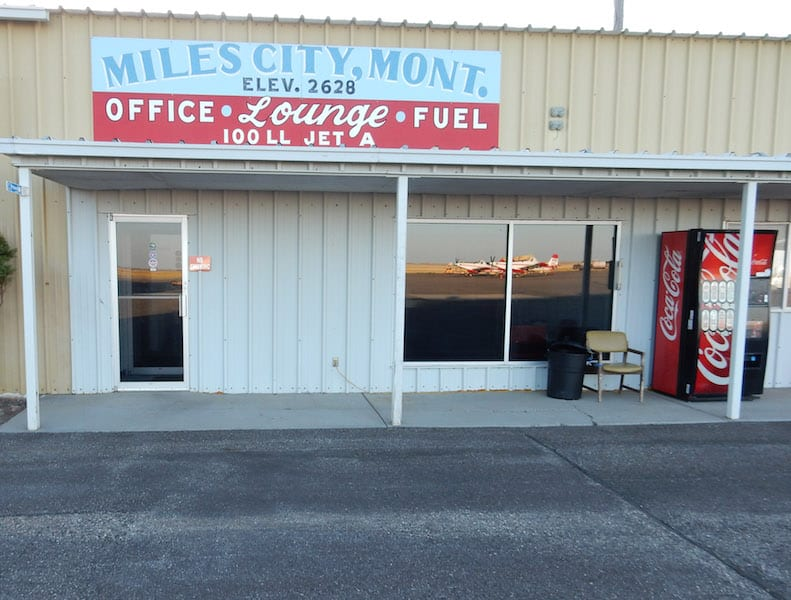 The FBO building at Miles City.