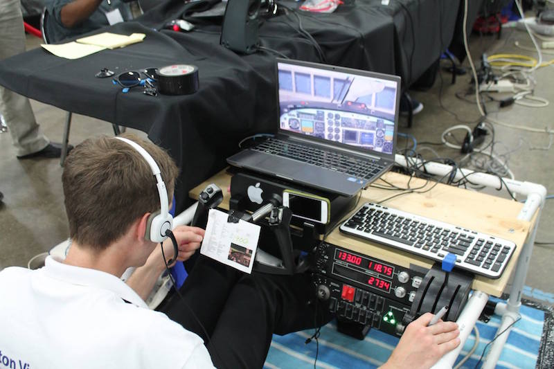 A scene from the 2016 FlightSimCon