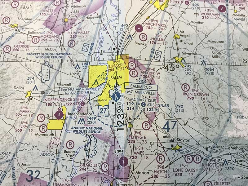KSLE airspace prior to recent changes. Image courtesy Charles West.