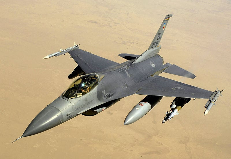 F-16 over Iraq. (U.S. Air Force photo by Master Sgt. Andy Dunaway)