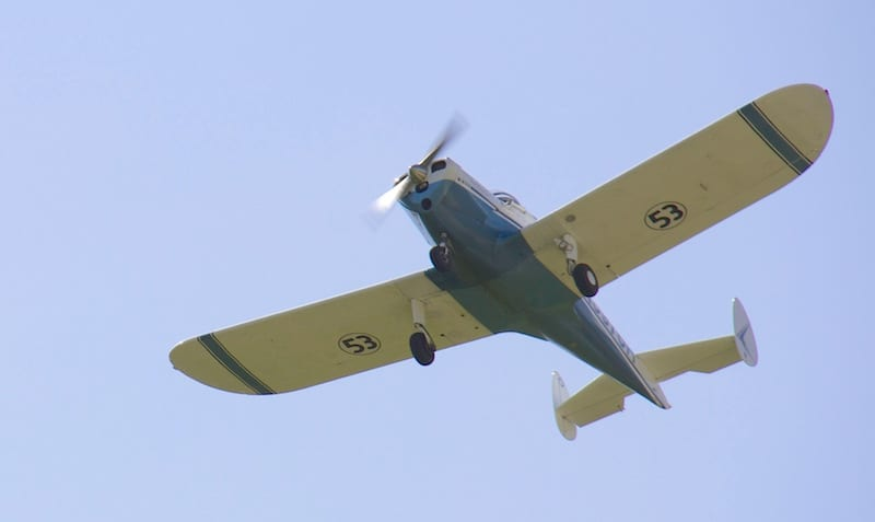 Race 53 crosses the finish line above Le Gros Memorial Airport, Louisiana.  (Photo by Lisa F. Bentson)