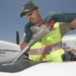 Tips to ground an aircraft while refueling