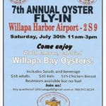 Oysters cause annual 'migration' to Willapa Harbor Airport