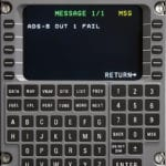 Latest version of Universal Avionics's software includes ADS-B failure message