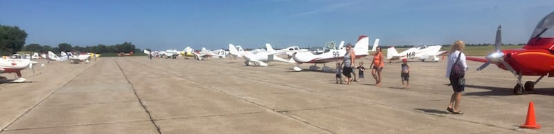 Planes as far as the eye can see. There's no describing the feeling of being on a ramp with over 70 race planes. The excitement was electric. (Photo by William E. Dubois)