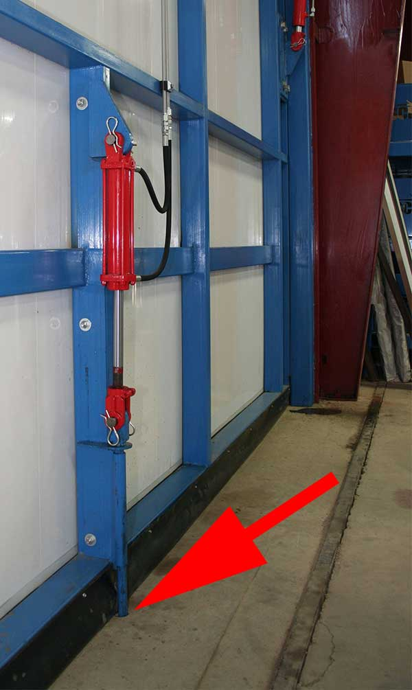 Schweiss Doors Wind Pin In The Closed Position