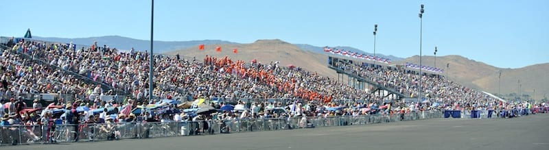 Full house: The grandstands and ramp boxes were packed for the 53rd Reno National Championship Air Races. (Photo by William E. Dubois)