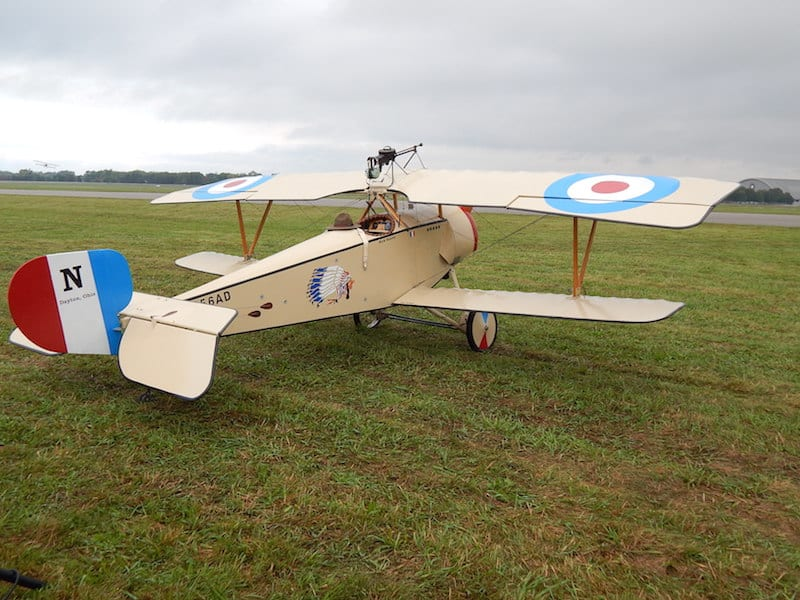 1914 Nieuport 11, 7/8 scale, owner Glen Fike, Beavercreek, Ohio, markings of LaFayette Escadrille