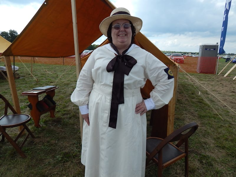 WW I U.S. Army Library Associates uniform worn by Tammy Themel