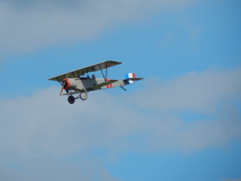 Nieuport 23 making a flying pass for the spectators. (All photos by Bob Jaques)