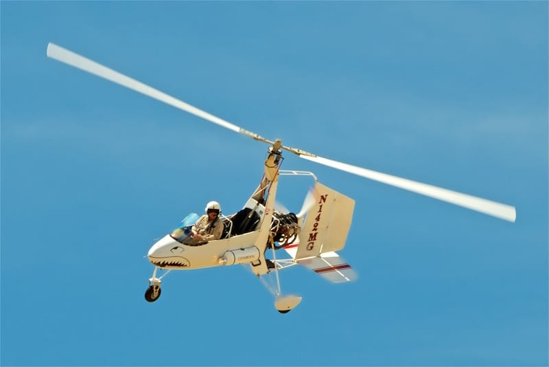 Vance Breese flies a one-of-kind Givans Predator gyroplane.