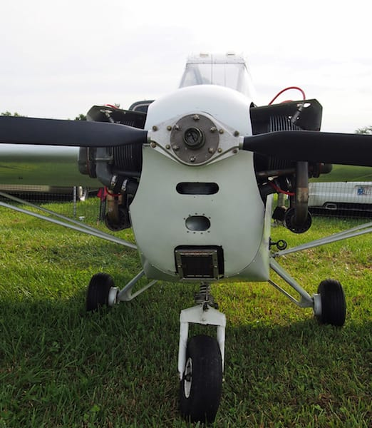 The 65 hp Continental spins a Warp Drive adjustable prop.