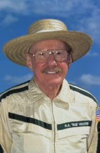 Hoover in the mid-1990s in his trademark straw hat. (Photo courtesy EAA)