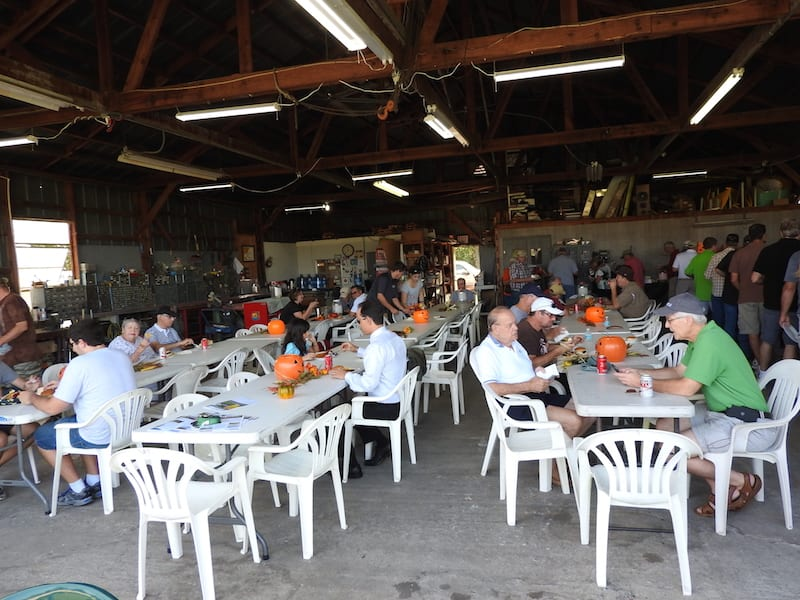 Malcolm Powell's Southern Aircraft Support hangar provided plenty of room and table space for the fly-In lunch.