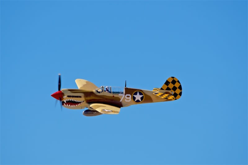 This Curtiss P-40N Kittyhawk is one of approximately 25 flyable P-40s remaining.