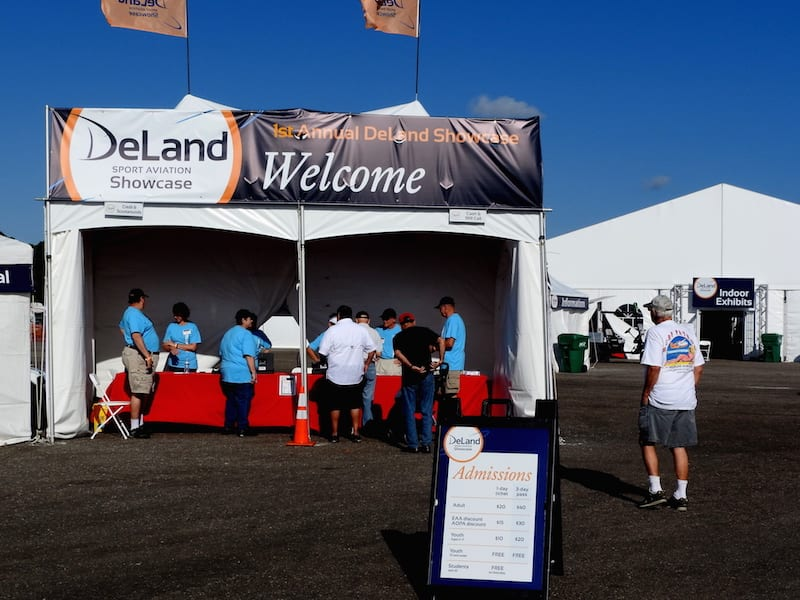 The DeLand Sport Aviation Showcase entrance was the portal to a three day Sport Aviation event with plans to become an annual show. (Photo by Ted Luebbers)