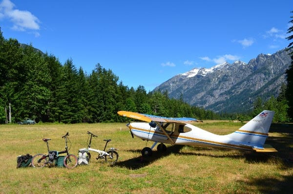 "Photo by Lisa Ballantyne, Stehekin, Wash. ""We loved the story the bicycles tell, of the possibilities for fun once the plane has landed."""