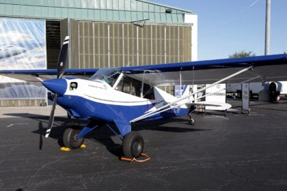 This Aviat Aircraft Husky more than held its own on the ramp.