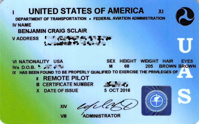 Remote Pilot in Command certificatae