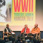 Tuskegee Airman packs them in at museum