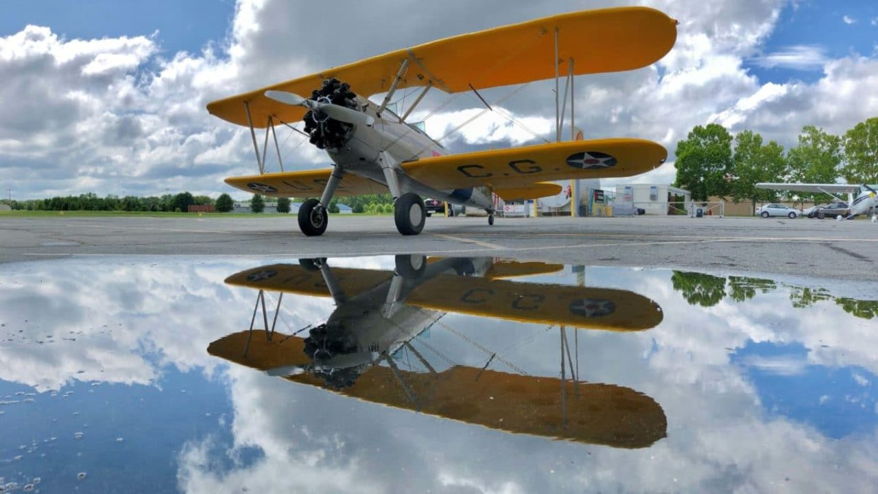 Pictures of the Day: Stearman reflections
