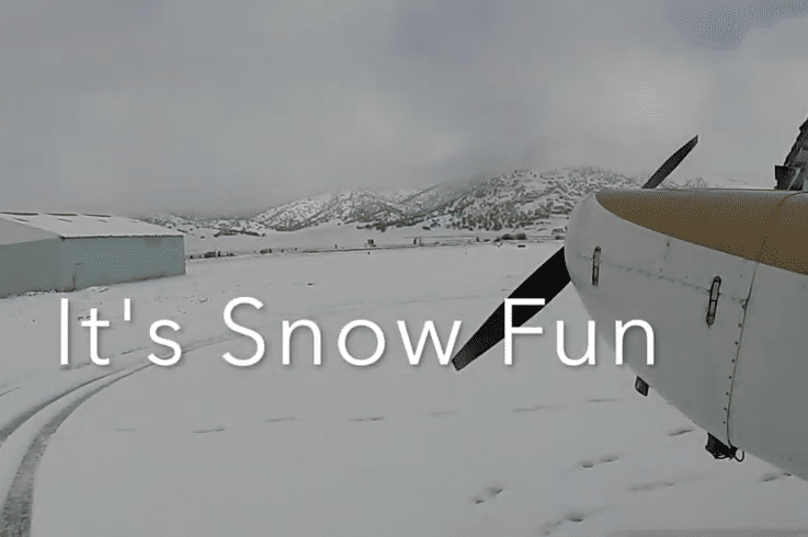 Video: Experimenting with a snowy runway