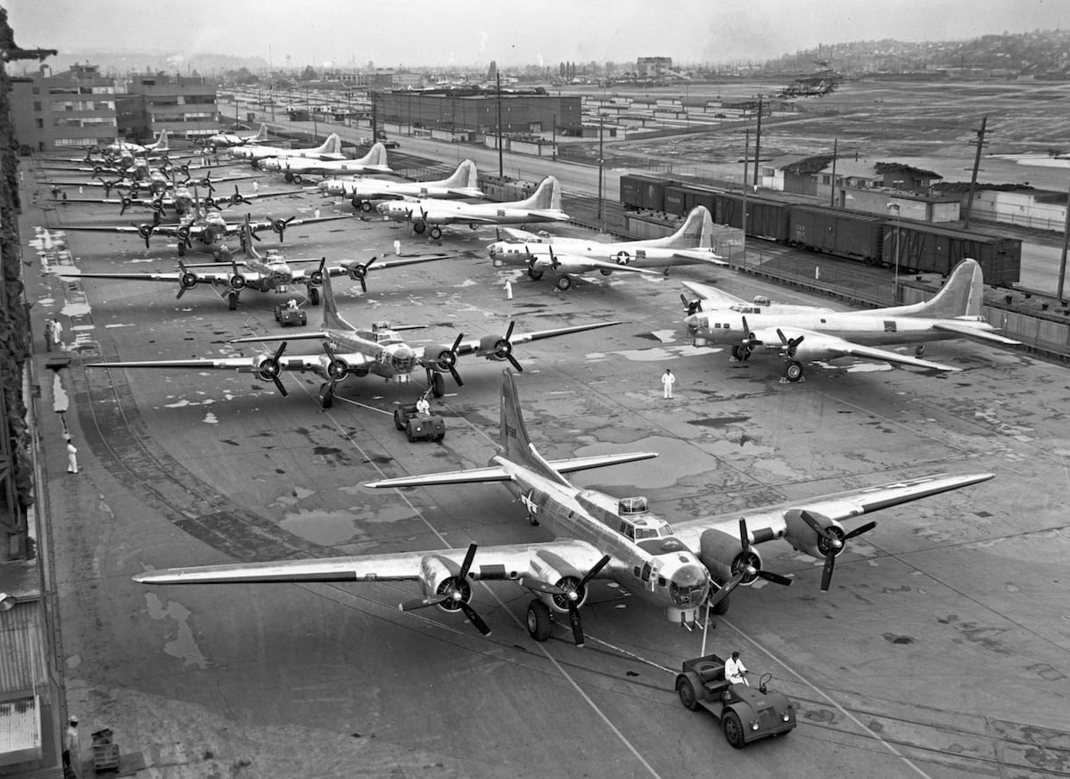 Production miracles built the American Air Armada in World War II