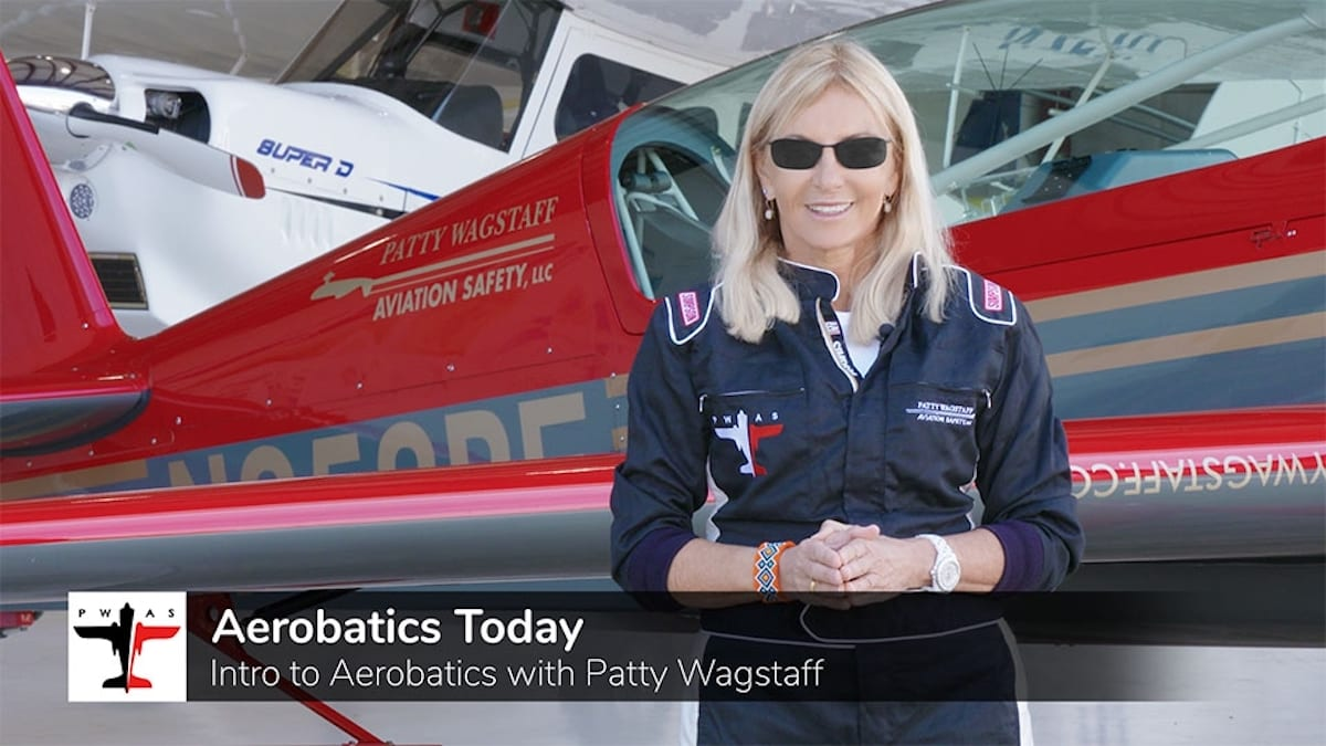 Sporty's partners with Patty Wagstaff on new aerobatics course