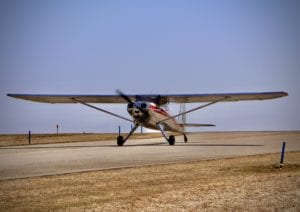 """The """"Green Acres"""" Luscbome begins its takeoff roll."""