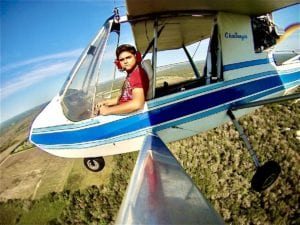 A younger Jat flying his Challenger.